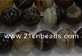 CAG9204 15.5 inches 10mm round line agate gemstone beads