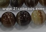 CAG9206 15.5 inches 14mm round line agate gemstone beads