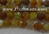 CAG9212 15.5 inches 6mm faceted round line agate gemstone beads