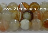 CAG9222 15.5 inches 8mm faceted round line agate beads wholesale