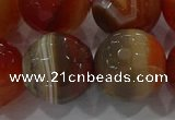 CAG9236 15.5 inches 18mm faceted round line agate beads wholesale
