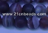 CAG9374 15.5 inches 12mm round matte botswana agate beads
