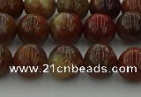 CAG9392 15.5 inches 8mm round red moss agate beads wholesale