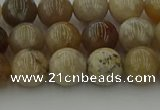 CAG9402 15.5 inches 8mm round ocean fossil agate beads wholesale