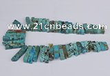 CAG9416 Top drilled 8*18mm - 10*50mm sticks ocean agate beads