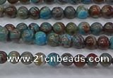 CAG9470 15.5 inches 3mm round blue crazy lace agate beads