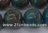 CAG9478 15.5 inches 18mm round blue crazy lace agate beads