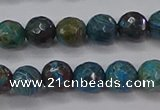 CAG9481 15.5 inches 6mm faceted round blue crazy lace agate beads