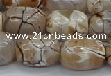 CAG9540 15.5 inches 13*18mm drum dragon veins agate beads