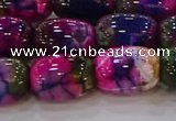 CAG9548 15.5 inches 13*18mm drum dragon veins agate beads