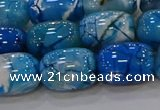 CAG9549 15.5 inches 13*18mm drum dragon veins agate beads