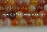 CAG9561 15.5 inches 6mm round red botswana agate gemstone beads