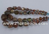 CAG9616 15.5 inches 8*10mm - 20*30mm faceted nuggets ocean agate beads