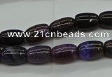 CAG9622 15.5 inches 8*12mm drum dragon veins agate beads wholesale