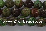 CAG9645 15.5 inches 6mm round ocean agate gemstone beads wholesale
