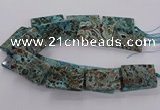 CAG9697 15.5 inches 30*45mm - 35*50mm rectangle ocean agate beads