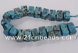 CAG9699 15.5 inches 15*28mm - 17*30mm cuboid ocean agate beads