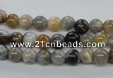 CAG971 15.5 inches 6mm round bamboo leaf agate gemstone beads