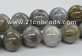 CAG974 15.5 inches 12mm round bamboo leaf agate gemstone beads