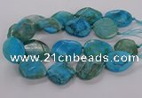 CAG9757 15.5 inches 30*35mm - 35*45mm faceted freeform agate beads