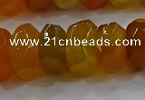 CAG9762 15.5 inches 8*16mm faceted rondelle agate gemstone beads