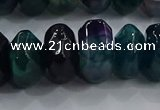 CAG9767 15.5 inches 8*16mm faceted rondelle agate gemstone beads