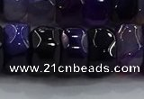 CAG9778 15.5 inches 8*16mm faceted rondelle agate gemstone beads