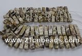 CAG9797 15.5 inches 9*25mm - 10*35mm cuboid ocean agate beads