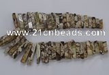 CAG9799 Top drilled 8*20mm - 10*48mm sticks ocean agate beads
