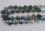 CAG9820 18*20mm - 25*30mm faceted freefrom dragon veins agate beads