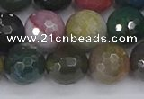 CAG9834 15.5 inches 12mm faceted round Indian agate beads