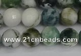 CAG9840 15.5 inches 10mm faceted round tree agate beads
