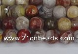 CAG9861 15.5 inches 6mm faceted round Mexican crazy lace agate beads
