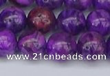 CAG9920 15.5 inches 10mm round purple crazy lace agate beads