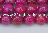 CAG9926 15.5 inches 8mm round fuchsia crazy lace agate beads