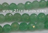 CAJ622 15.5 inches 8mm faceted round green aventurine beads
