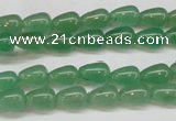CAJ630 15.5 inches 6*9mm teardrop green aventurine beads