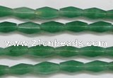 CAJ650 15.5 inches 6*12mm hexahedron green aventurine beads