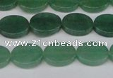 CAJ678 15.5 inches 10*14mm oval green aventurine beads