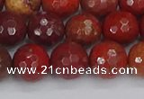 CAJ761 15.5 inches 10mm faceted round apple jasper beads