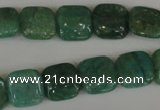 CAM1026 15.5 inches 12*12mm square natural Russian amazonite beads