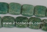 CAM1028 15.5 inches 16*16mm square natural Russian amazonite beads