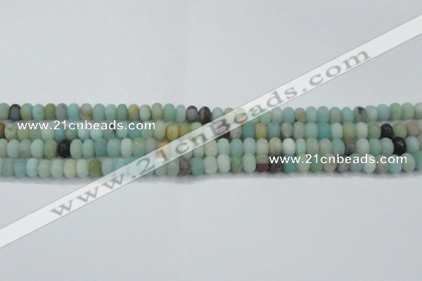 CAM1131 15.5 inches 5*8mm rondelle matte amazonite beads wholesale