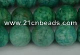 CAM1404 15.5 inches 12mm faceted round Russian amazonite beads