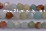 CAM1411 15.5 inches 6mm faceted nuggets amazonite gemstone beads