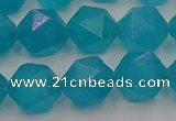CAM1434 15.5 inches 12mm faceted nuggets dyed amazonite gemstone beads
