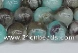 CAM1483 15.5 inches 10mm round Madagascar black amazonite beads