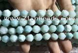 CAM1495 15.5 inches 10mm faceted nuggets amazonite beads wholesale