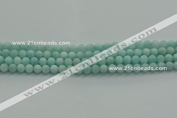 CAM1501 15.5 inches 6mm round natural peru amazonite beads