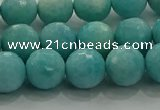 CAM1523 15.5 inches 10mm faceted round natural peru amazonite beads